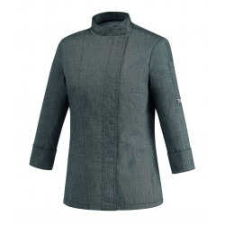 Chaqueta de cocinera EGOCHEF 104066 GREY MIX WOMAN
