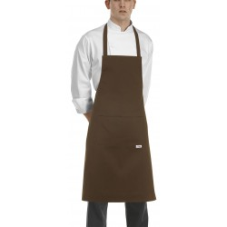 Delantal de peto EGOCHEF 704009 BROWN (Pack 2 uds.).