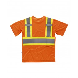 Camiseta reflectante-fluorescente M/Corta WORKTEAM C3645